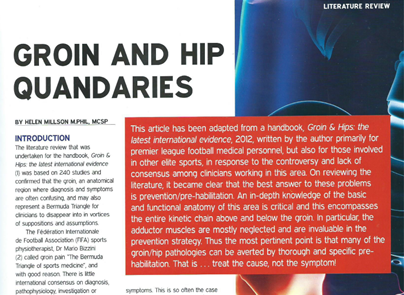 Groin and Hip Quandaries for Sports Journal Sportex 2013